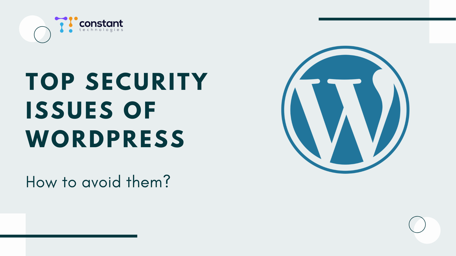 """Top security issues of WordPress"""